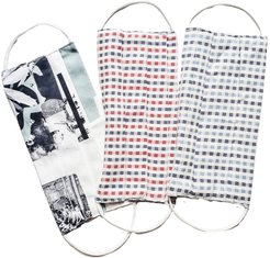 Organic Cotton Red Check Print Face Mask