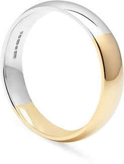 Two-Tone Court 5Mm Comfort Fit Band 9K Yellow & White Gold