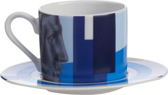 Hermes Blue Cappuccino Cup & Saucer