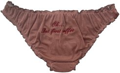 Lover Knickers With Embroidery Oh But First Coffee