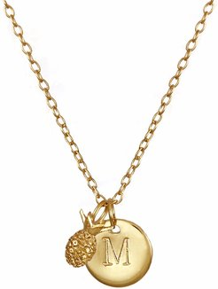 Pineapple & Initial Necklace