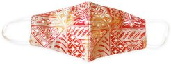 Brunna. Co - Red Java 2-Ply Vintage Batik Face Mask