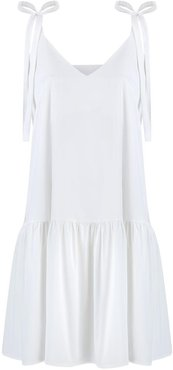 Margo White Cotton Dress