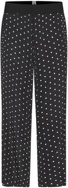 The Iconic Polka-Dot Trousers In Black Silk