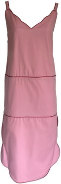 Colorful Midi Dress Pink Drica