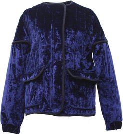 Rozsi Quilted Velvet Zip-Up Jacket