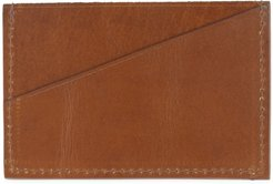 Classic Tan Leather Credit Card Holder