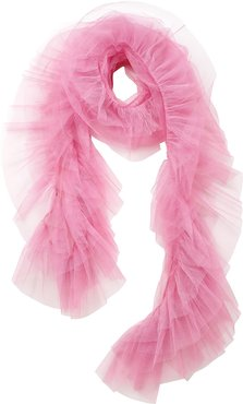 Tulle Scarf Flamingo Pink
