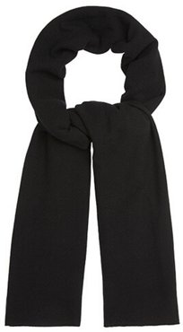 Oversized Knitted Wrap Scarf Black