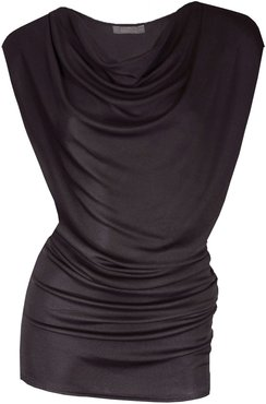 Even Out Gunmetal Cowl Top