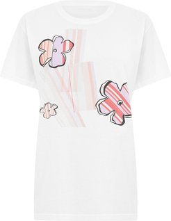 Striped Flowers T-Shirt