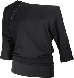 Explain Away Sustainable Black Off Shoulder Sweater