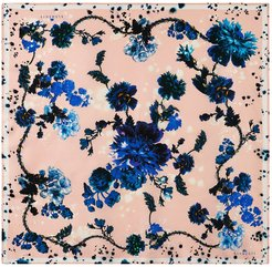 Square scarf in Gothic Floral print