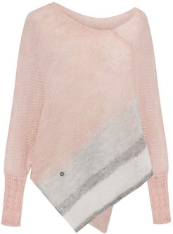 Fog Striped Poncho Light Pink
