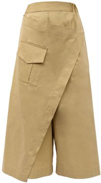 Wide-Leg Cotton Trousers Welcome