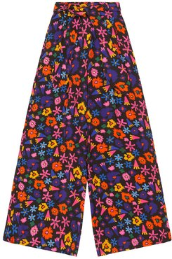 Rudas Palazzo Trousers In Doodle Flower