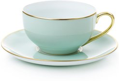 Round Tea Cup And Saucer