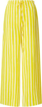 Ayah Yellow Brush Stripe Trousers
