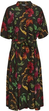Ashes Kimono Wrap Dress In Himalaya