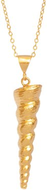 Gold Spiral Shell Necklace