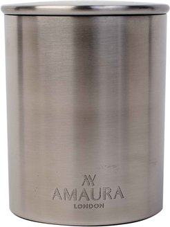 Allure Patchouli, Ylang Ylang & Magnolia Blossom Eco-Luxury Candle In Stainless Steel Chrome Finish