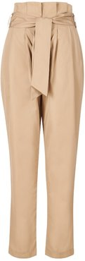 Bege Tailored High-Waisted Trousers