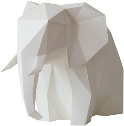 Big Elephant Diy Paperlamp Kit In Cotton White