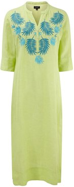 Palm Springs Lime Maxi Embroidered Kaftan