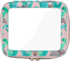 Elephant Vegan Leather Clear Cosmetic Case