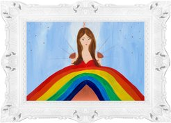 Heart Pouring The Rainbow Large Fine Art Print Limited Edition
