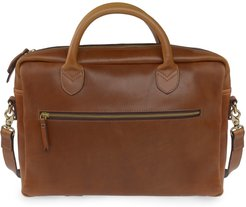 Luxe Tan Leather Laptop Bag