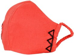Reusable Red Face Mask With Elastic Cords