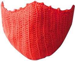 Crochet Face Mask In Red