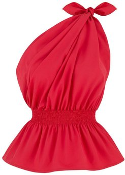 Demi One Shoulder Red Top