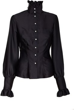 Black Shirt With High Neck