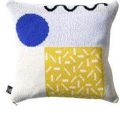 Etto Cushion in Yellow & Blue/Red Zip