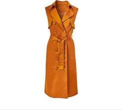 Cognac Sleeveless Trench