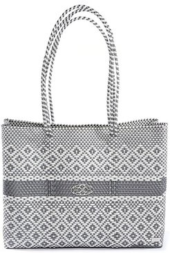 Silver Aztec Travel Tote Bag With Clutch