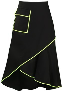 Ff Black Neon Midi Skirt