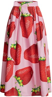 Maxi Skirt With Strawberry Print
