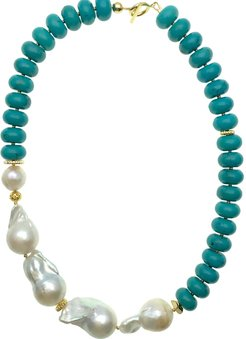 Turquoise With Baroque Statement Necklace