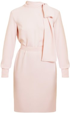 Dia Pastel Pink Open Back Mini Dress With Ribbon On Shoulder