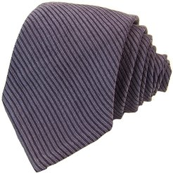Blue Small Striped Washed Silk Tie
