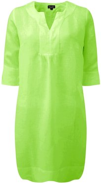 Life Style Easy Linen Tunic Dress - Parrot Green