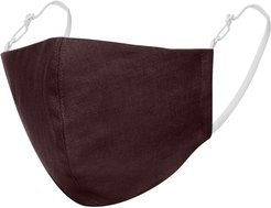 Brown Linen Cotton Face Mask With Filter Pocket