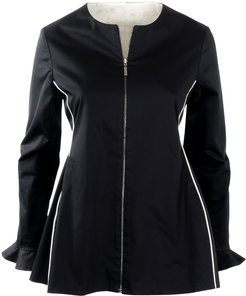 Reversible Zipped Peplum Shape Jacket