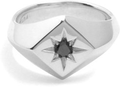 North Star Signet Ring In Sterling Silver