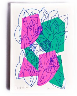 Neon Floral Limited Edition Screen Print