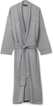 Legere Cashmere Dressing Gown In Soft Grey