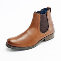 Curito Bradwell Men's Oiled Leather Chelsea Boots - Tan